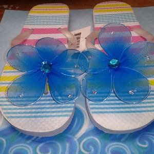 Multi-color women beach flip flops
